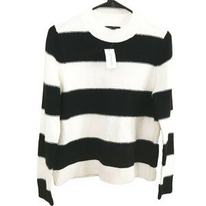 NWT Banana Republic Black White Striped Sweater M